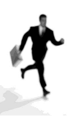 Man In Suit Running